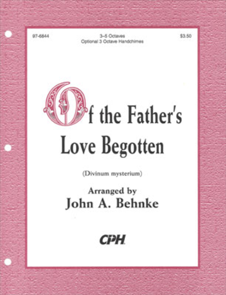 Cover of Of The Father's Love Begotten