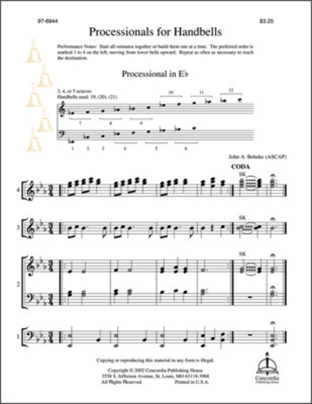 Cover of Processionals For Handbells
