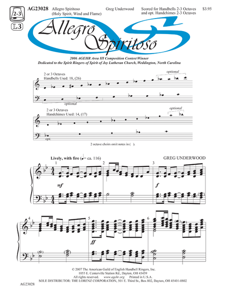 Cover of Allegro Spiritoso