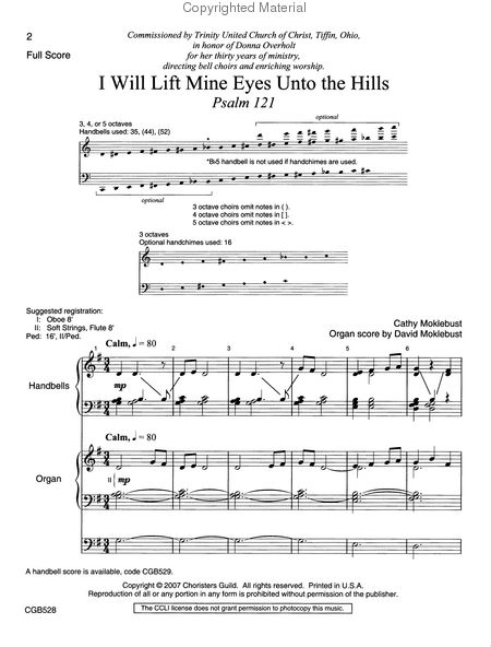 Page 1 of I Will Lift Mine Eyes Unto the Hills - Full Score and Parts