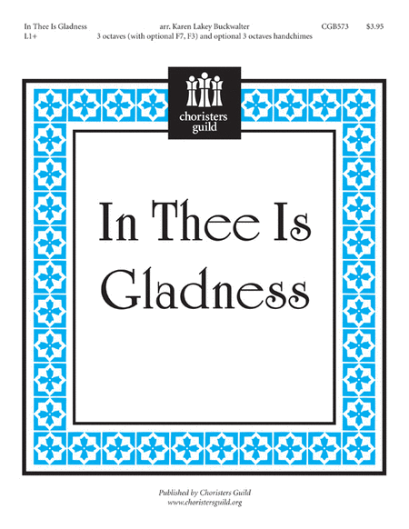 Cover of In Thee Is Gladness
