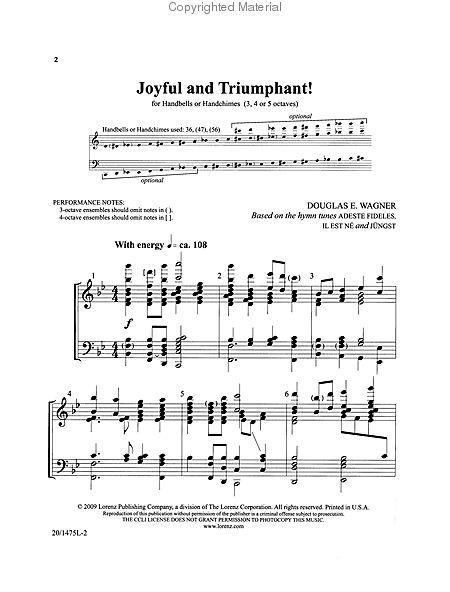 Page 1 of Joyful and Triumphant!