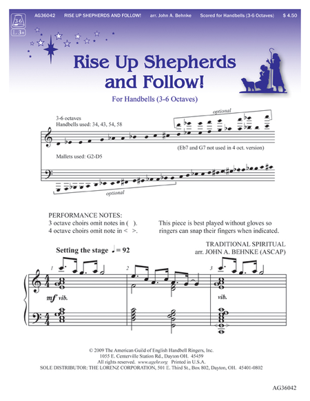 Cover of Rise Up Shepherds and Follow!