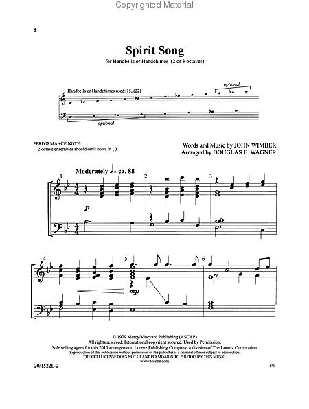 Page 1 of Spirit Song
