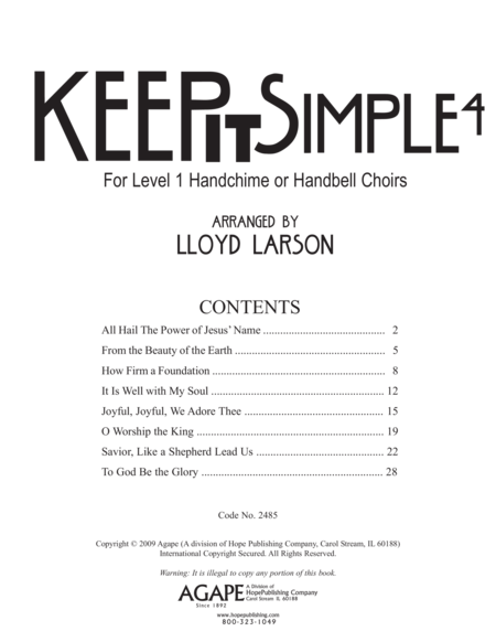 Page 1 of Keep It Simple