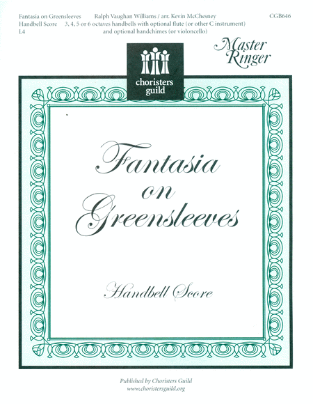 Cover of Fantasia on Greensleeves - Handbell Score