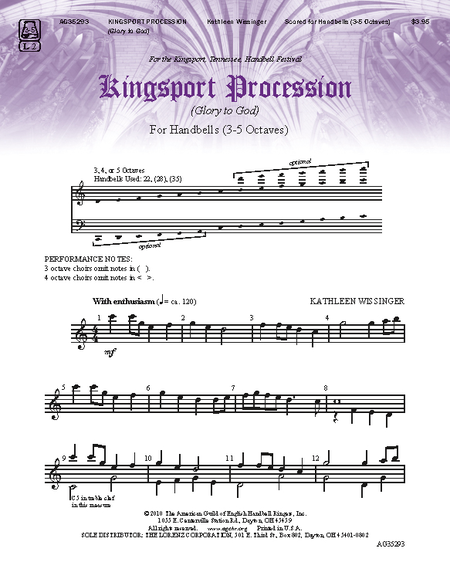 Cover of Kingsport Procession (Glory to God)