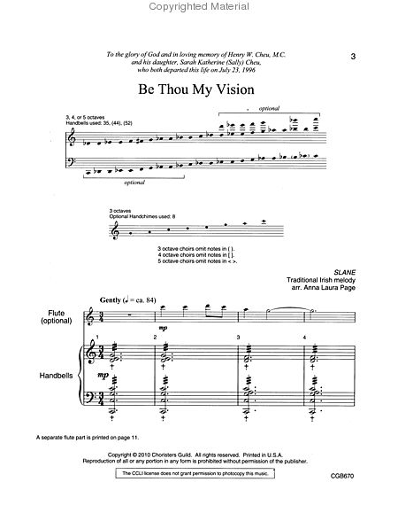 Page 1 of Be Thou My Vision