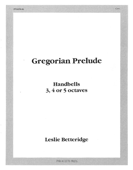 Cover of Gregorian Prelude for Handbells
