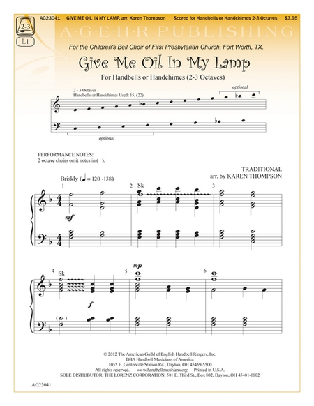 Cover of Give Me Oil In My Lamp