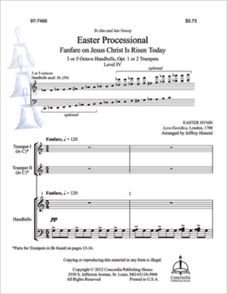 Cover of Easter Processional: Fanfare on Jesus Christ Is Risen Today