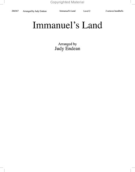 Page 1 of Immanuel's Land