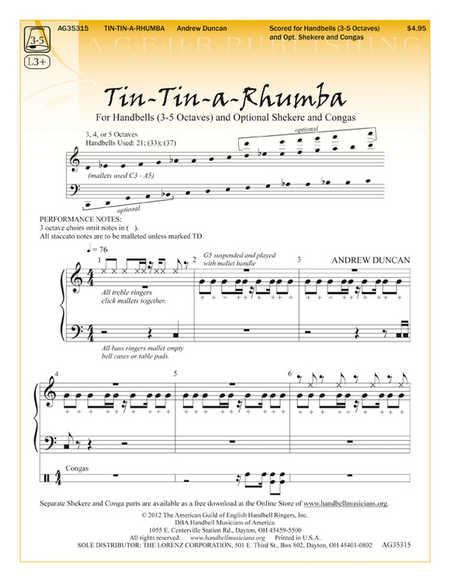 Cover of Tin-Tin-a-Rhumba