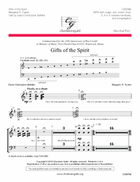 Cover of Gifts of the Spirit - Handbell Score