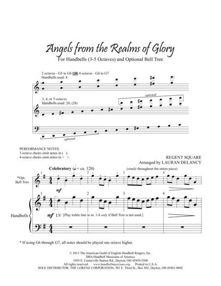 Page 1 of Angels from the Realms of Glory