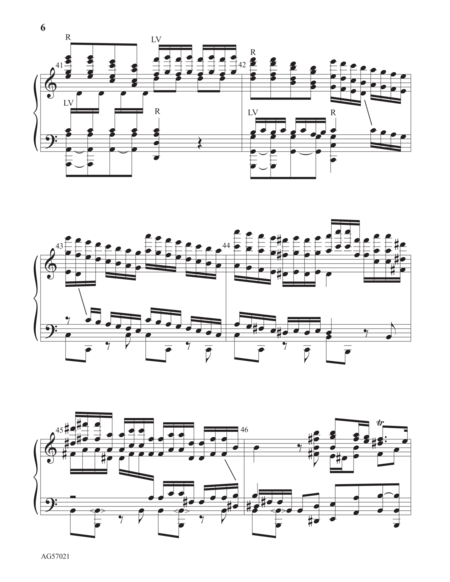 Page 6 of Allegro from the Concerto in A minor