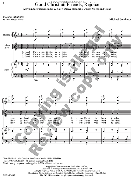 Page 3 of Hymns for Handbells Reproducible Accompaniments and Settings