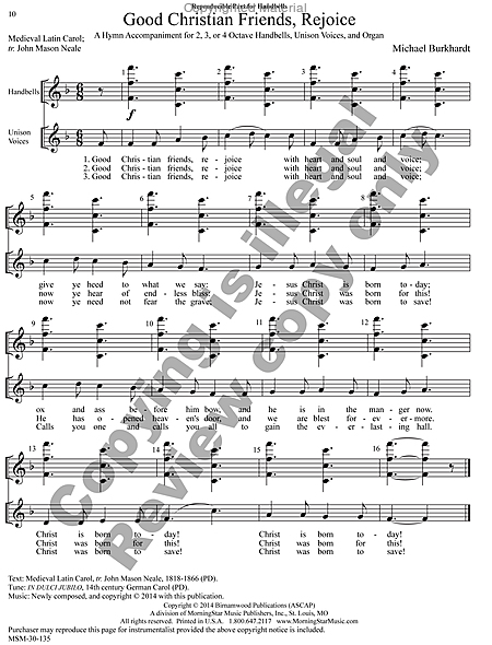 Page 4 of Hymns for Handbells Reproducible Accompaniments and Settings