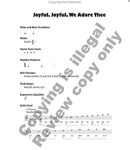 Page 5 of Hymns for Handbells Reproducible Accompaniments and Settings