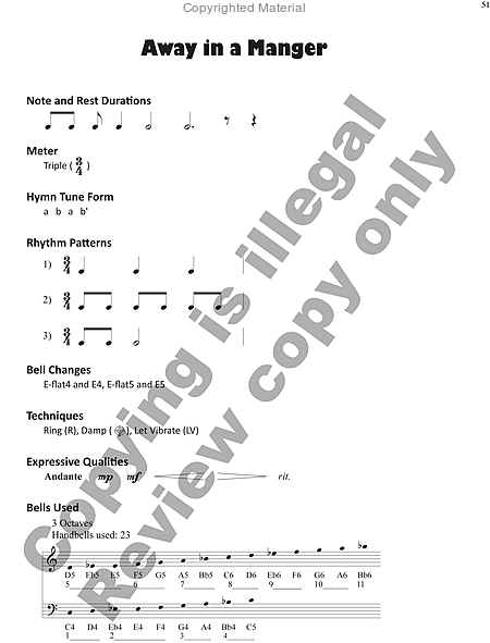 Page 7 of Hymns for Handbells Reproducible Accompaniments and Settings