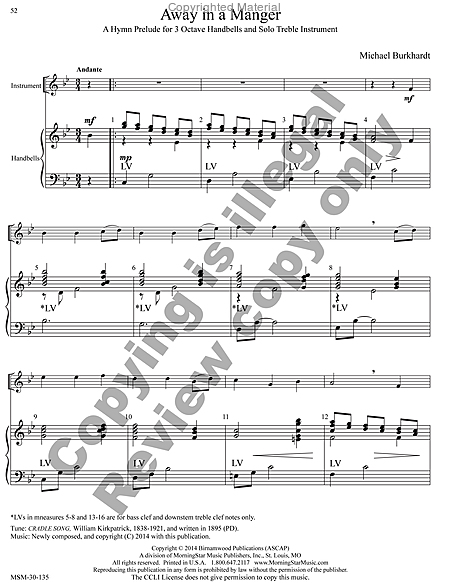 Page 8 of Hymns for Handbells Reproducible Accompaniments and Settings
