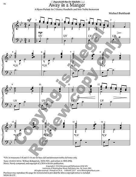 Page 9 of Hymns for Handbells Reproducible Accompaniments and Settings