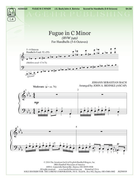 Cover of Fugue in C Minor