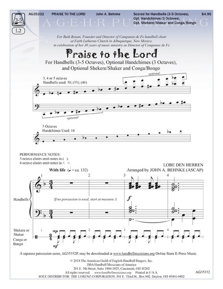 Cover of Praise to the Lord
