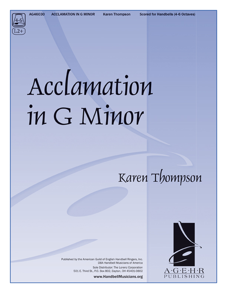 Cover of Acclamation in G Minor