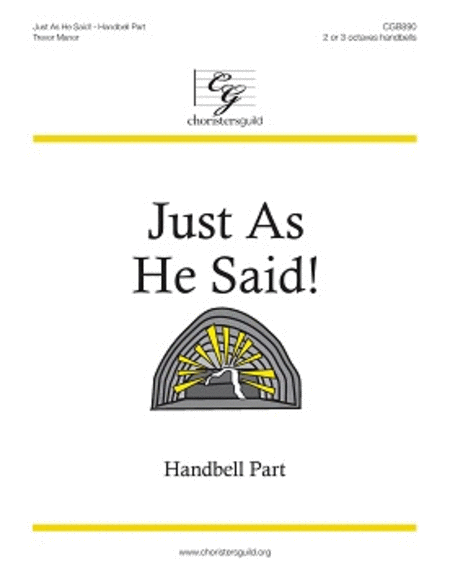 Cover of Just As He Said