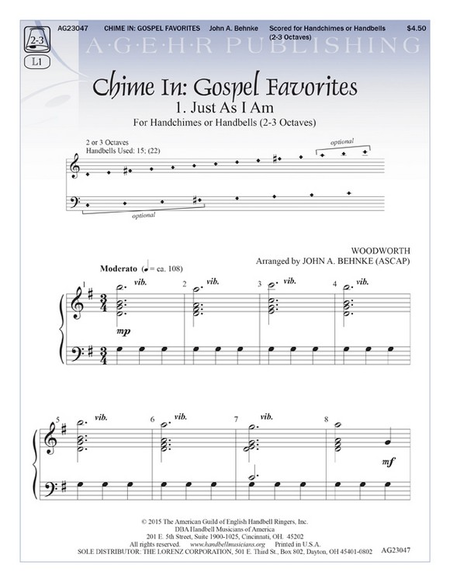 Cover of Chime In: Gospel Favorites