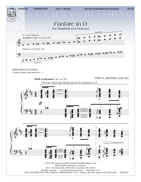 Cover of Fanfare in D