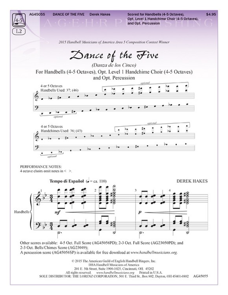 Cover of Dance of the Five