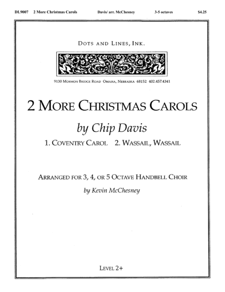 Cover of Two More Christmas Carols