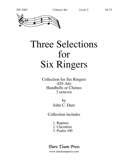Cover of Three Selections for Six Ringers