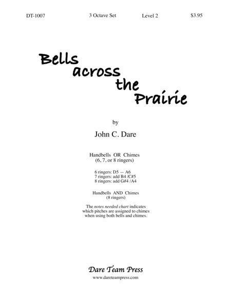 Cover of Bells Across the Prairie