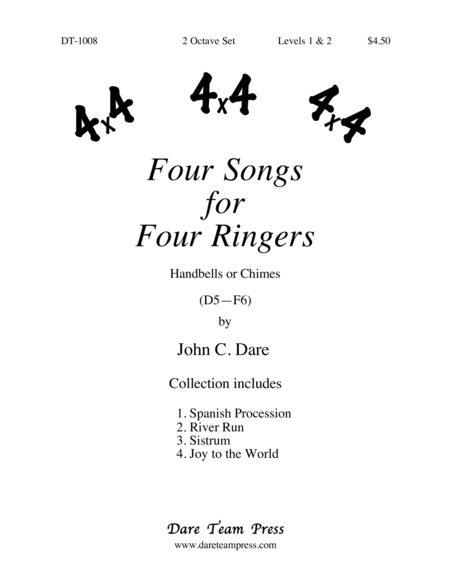 Cover of Four Songs for Four Ringers