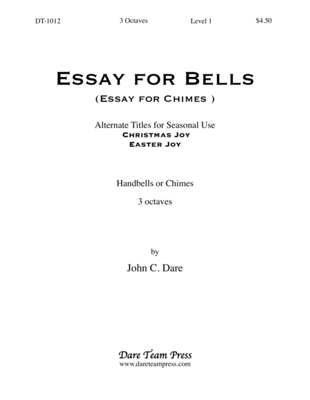 Cover of Essay for Bells