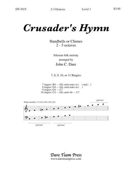 Cover of Crusader's Hymn