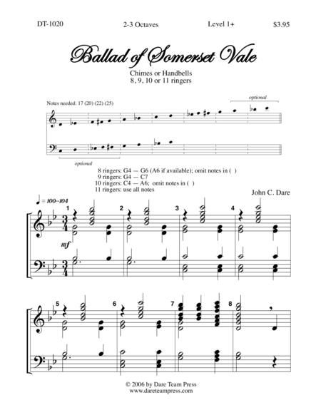 Cover of Ballad of Somerset Vale