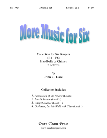 Cover of More Music for Six