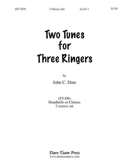 Cover of Two Tunes for Three Ringers