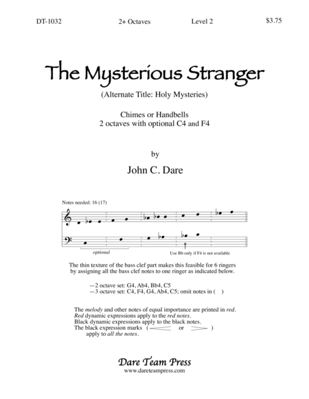 Cover of Mysterious Stranger