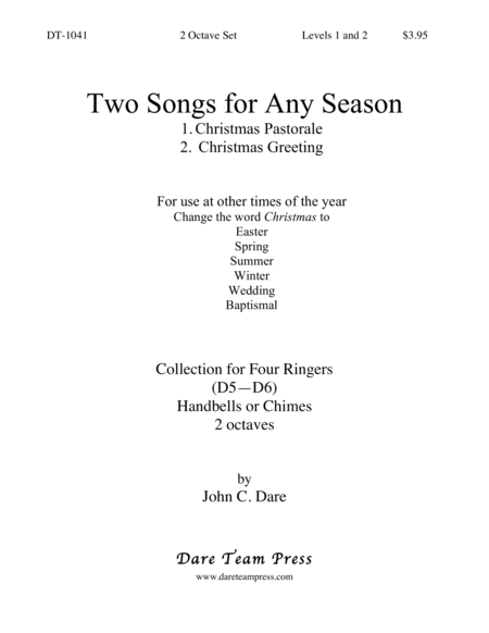 Cover of Two Songs for Any Season