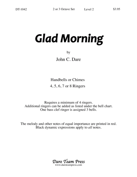 Cover of Glad Morning