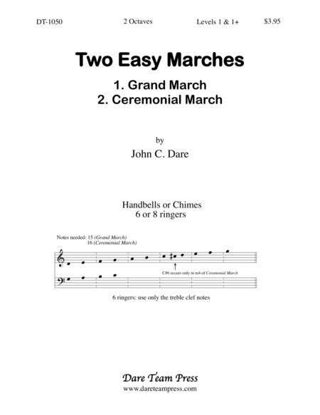 Cover of Two Easy Marches