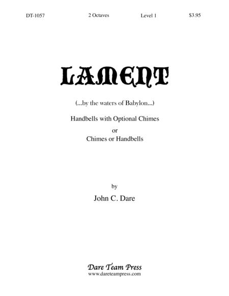 Cover of Lament