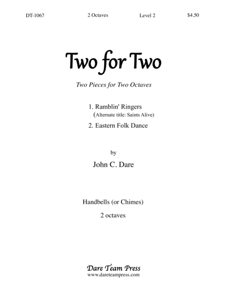 Cover of Two for Two