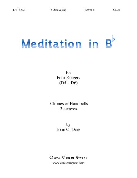 Cover of Meditation in Bb