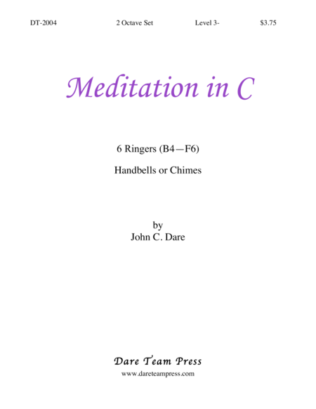 Cover of Meditation in C